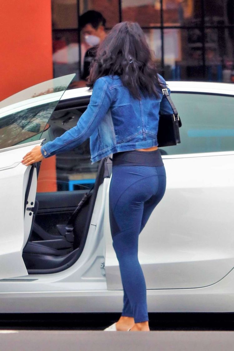 Stylish Camila Mendes Candids In Leggings Out In Los Angeles