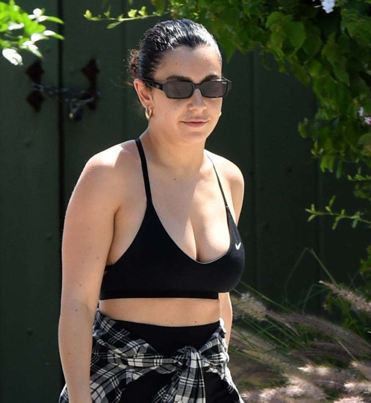 Charli XCX Spotted Walking In Nike Sports Bra Out In LA