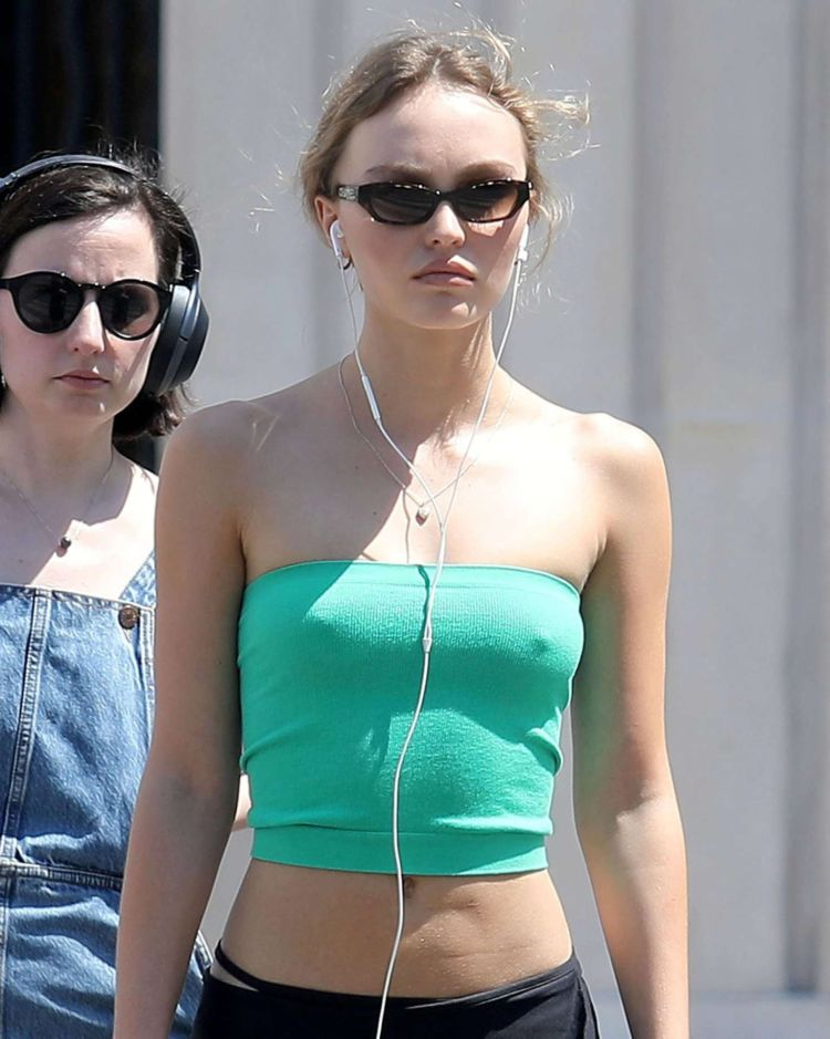 Lily-Rose Depp Spotted Out And About In Paris
