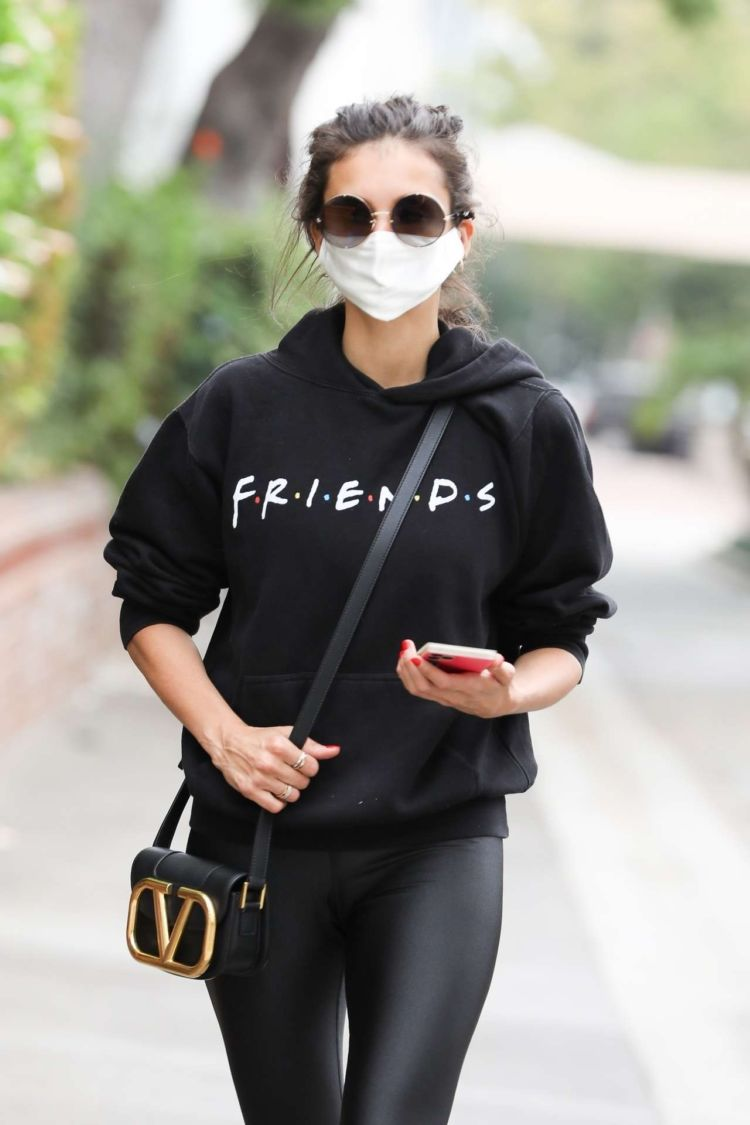 Nina Dobrev Looks Stylish In All Black Outfit Out In Los Angeles
