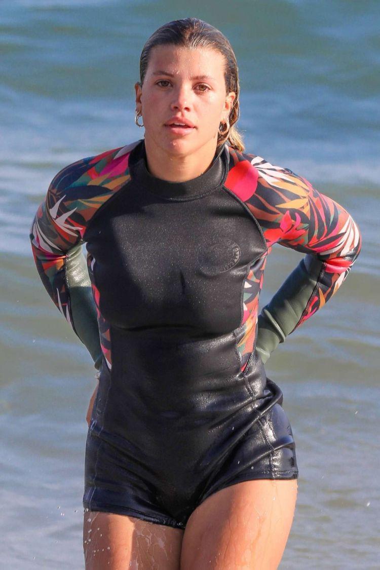 Sofia Richie Spotted Paddleboarding In Malibu