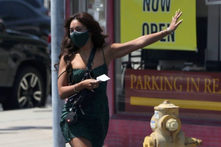 Vanessa Hudgens Spotted Dancing Outdoors In West Hollywood