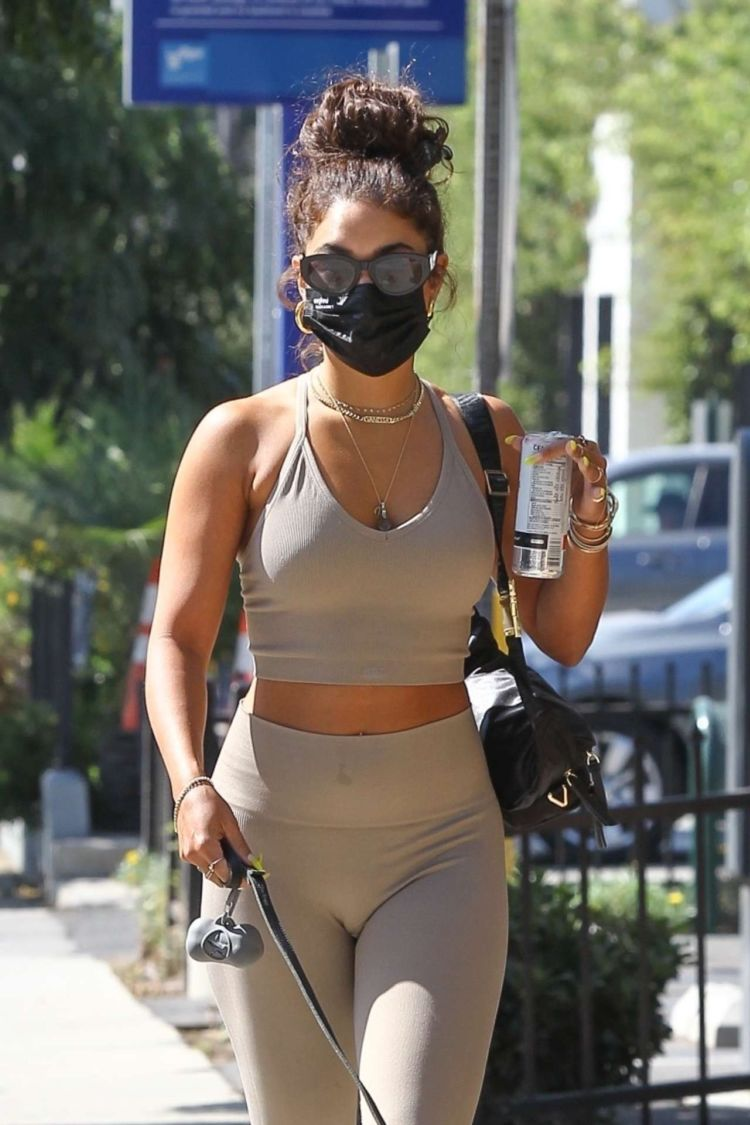 Vanessa Hudgens Candids In Tights, Out In West Hollywood