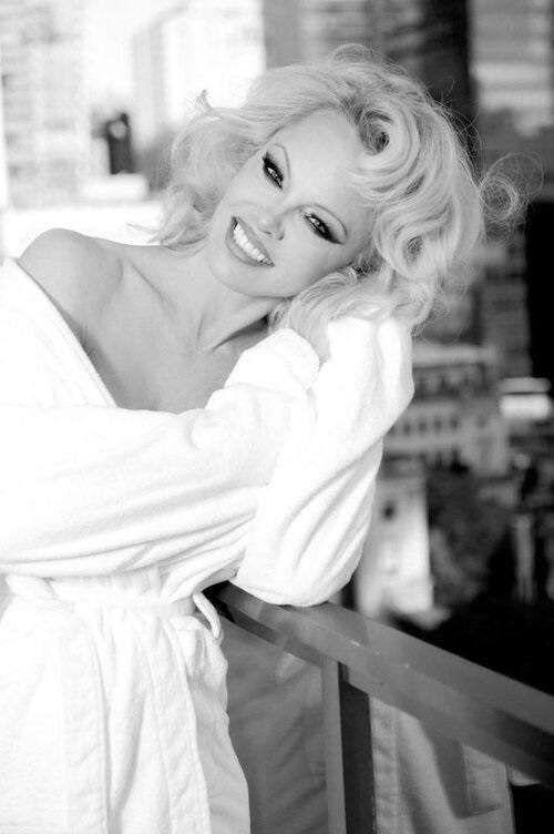 Pamela Anderson's BnW Photoshoot By Gordan Dumka