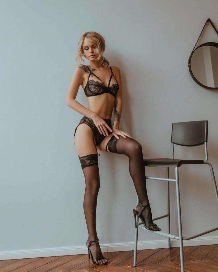 Anastasia Shcheglova Shoots In A Black Lingerie